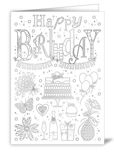 happy birthday ausmalen  vorlagen zum ausmalen gratis